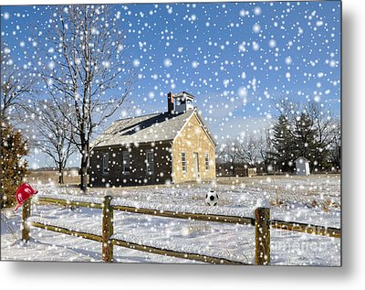Metal Print featuring the photograph Old Kansas Schoolhouse by Liane Wright