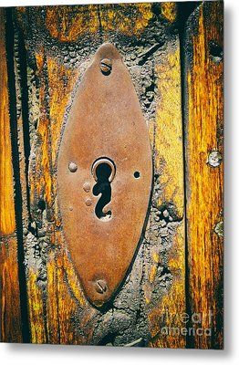 Old Key Hole Metal Print by Nicola Fiscarelli