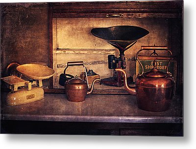 Old Kitchen Utensils Metal Print by Maria Angelica Maira
