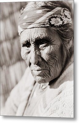 Old Klamath Woman Circa 1923 Metal Print
