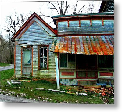 Old Leavenworth Indiana Metal Print by Julie Dant