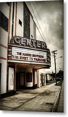 Old Lenoir Nc Movie Theater Metal Print