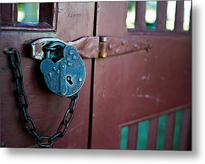 Old Lock Metal Print