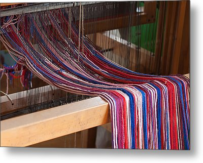 Old Loom For Yarn Metal Print by Salvatore Meli