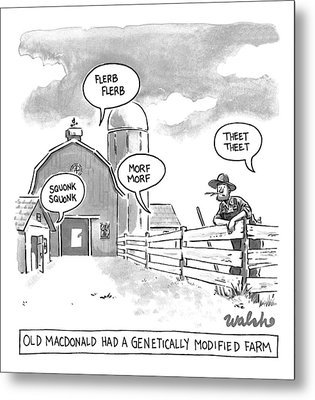 Old Macdonald's Genetically Modified Farm -- Metal Print by Liam Walsh