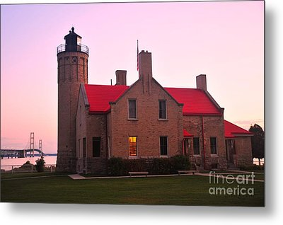 Metal Print featuring the photograph Old Mackinac Point Lighthouse by Terri Gostola