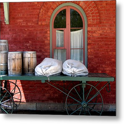 Metal Print featuring the photograph Old Mail Wagon by Mary Bedy