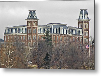 Old Main Metal Print by Iris Page