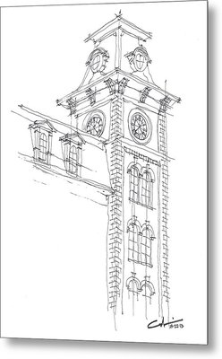 Metal Print featuring the drawing Old Main Study by Calvin Durham
