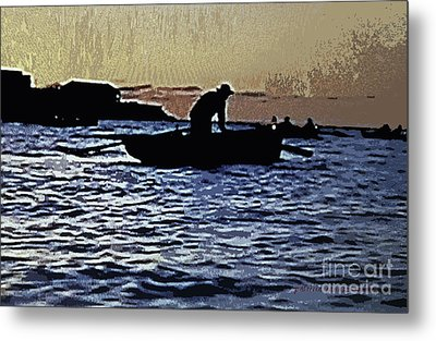 Old Man And The Sea Metal Print by Patricia Januszkiewicz