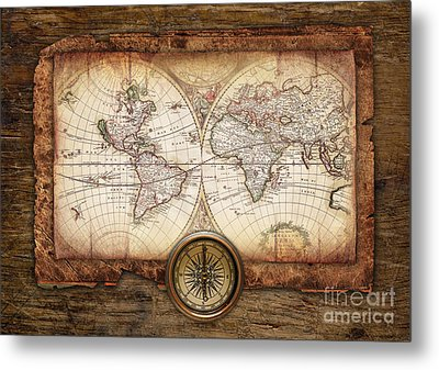 Old Maps Metal Print by Christo Grudev