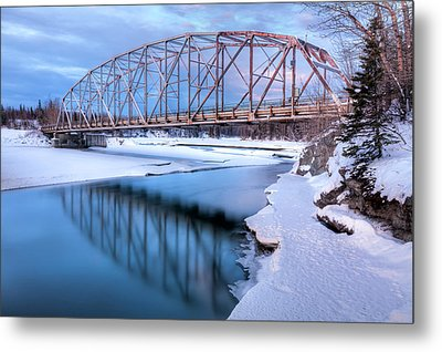 Old Matanuska River Bridge Near Palmer Metal Print