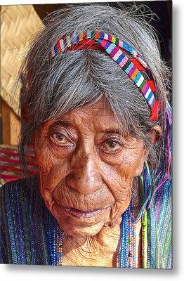 Old Mayan Woman Metal Print