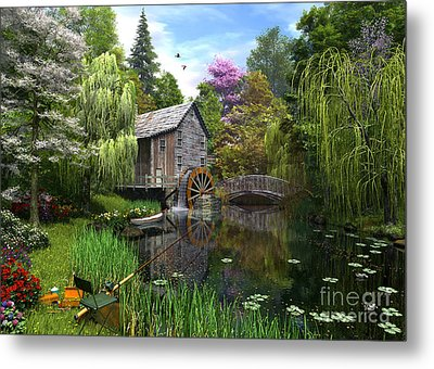 Old Mill Metal Print by Dominic Davison