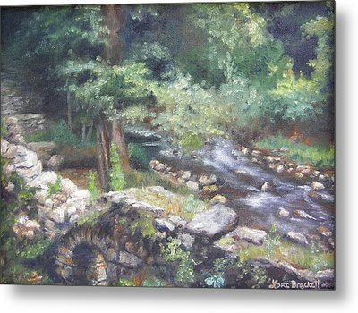 Metal Print featuring the painting Old Mill Steam II by Lori Brackett