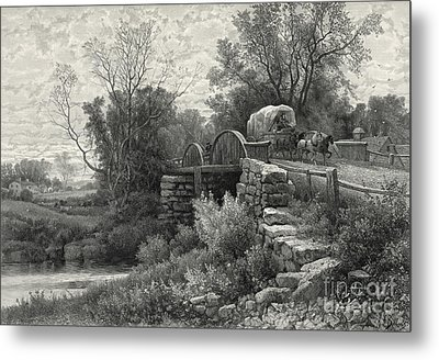 Old Mill Stream 1883 Metal Print by Padre Art