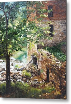 Metal Print featuring the painting Old Mill Stream I by Lori Brackett