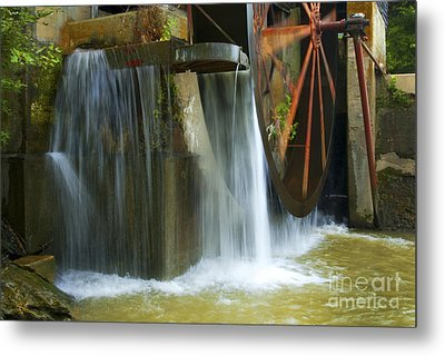 Old Mill Water Wheel Metal Print by Paul W Faust -  Impressions of Light