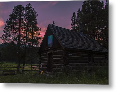 Old Miners Cabin Metal Print by Michael J Bauer