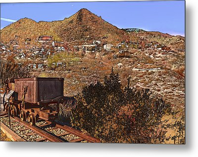 Old Mining Town No.24 Metal Print by Mark Myhaver