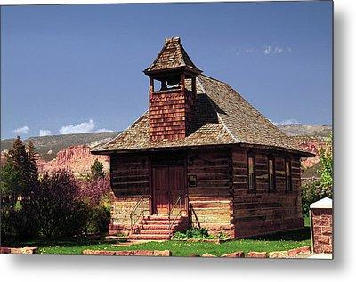 Old Mormon Church, Torrey, Utah, Usa Metal Print