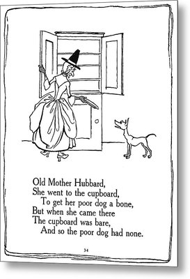 Old Mother Hubbard, 1913 Metal Print by Granger