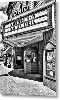 Old Movie Theater Bw Metal Print by Mel Steinhauer