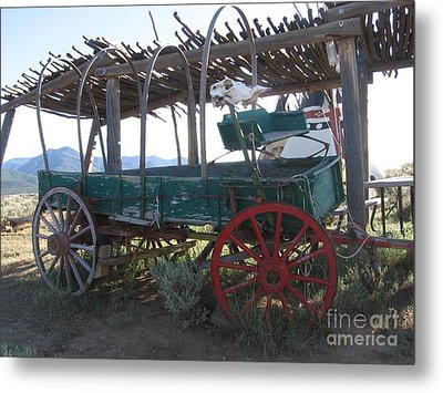 Metal Print featuring the photograph Old Native American Wagon by Dora Sofia Caputo Photographic Art and Design