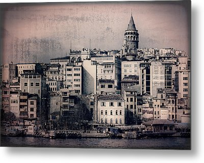 Old New District Metal Print by Joan Carroll