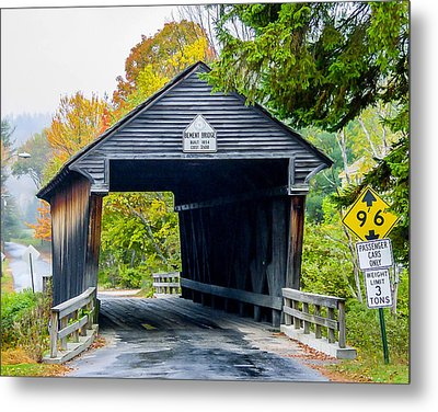 Old New Hampshire Bridge Metal Print
