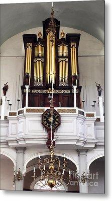 Old North Church Organ Metal Print by John Rizzuto