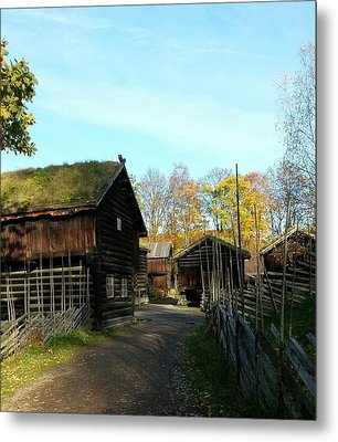 Old Norwegian Houses Metal Print