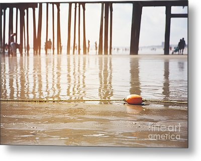 Old Orchard Beach Metal Print by Jane Rix