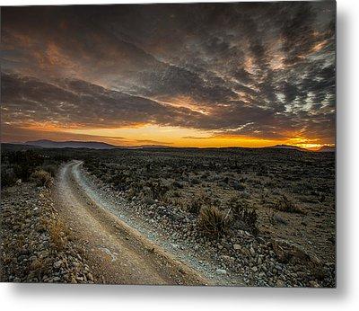 Old Ore Road Sunset Metal Print by Allen Biedrzycki