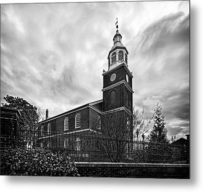 Old Otterbein Church In Black And White Metal Print by Bill Swartwout