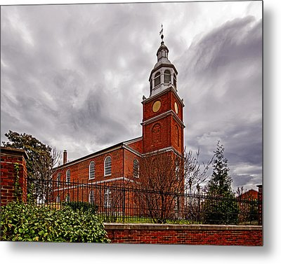 Old Otterbein Country Church Metal Print by Bill Swartwout