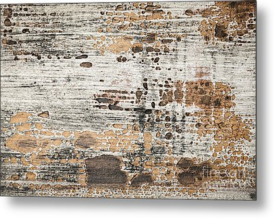 Old Painted Wood Abstract No.1 Metal Print