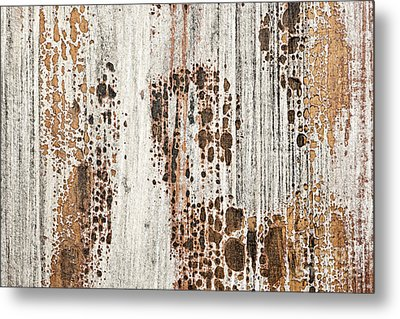 Old Painted Wood Abstract No.2 Metal Print