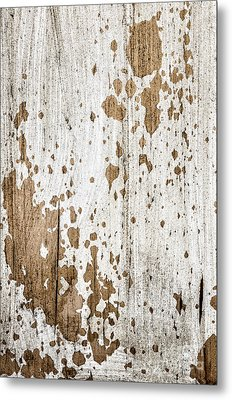 Old Painted Wood Abstract No.3 Metal Print