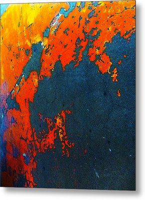 Old Parking Garage Floor 4b Metal Print by Robert J Sadler