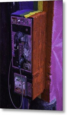 Old Pay Phone Metal Print