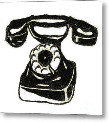 Old Phone Metal Print by Michal Boubin