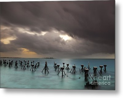 Old Pier In The Florida Keys Metal Print