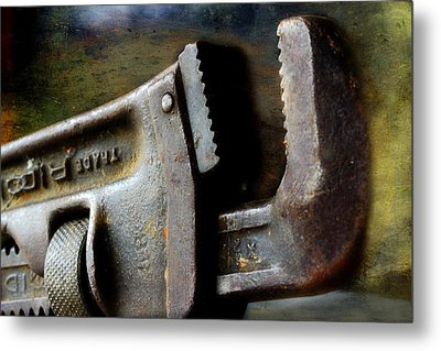 Old Pipe Wrench Metal Print by Michael Eingle
