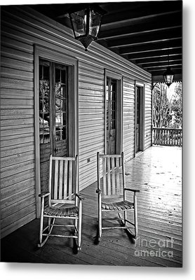 Old Porch Rockers Metal Print by Perry Webster
