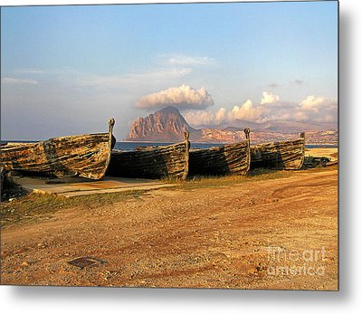Old Port - Trapani - Sicily Metal Print by Silva Wischeropp