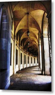 Old Post Office Archway Metal Print by Regina  Williams