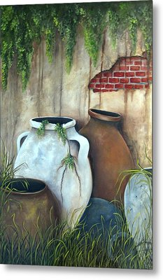 Old Pottery Metal Print by Katia Aho