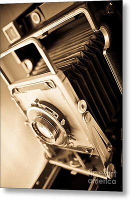 Old Press Camera Metal Print