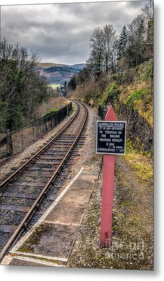 Old Railway Sign Metal Print by Adrian Evans